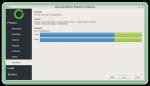 Riepilogo delle partizioni del disco da formattare prima di procedere con l'installazione
